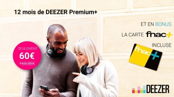 vente priv e un an de deezer moiti prix avec fnac en bonus igeneration howldb. Black Bedroom Furniture Sets. Home Design Ideas