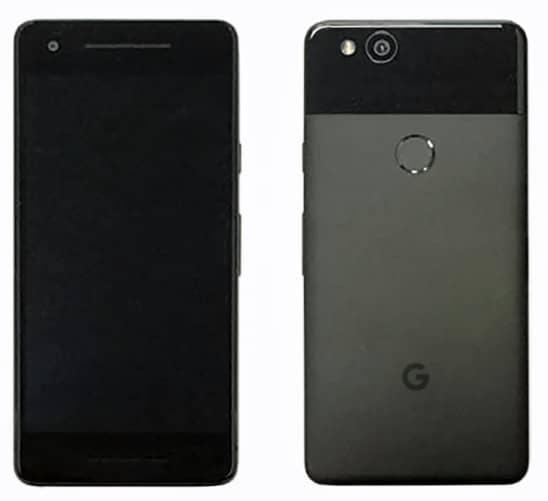 Voici à quoi ressemblerait le Pixel standard. Pas de bordures affinées, pas de double appareil photo, mais deux haut-parleurs en façade.