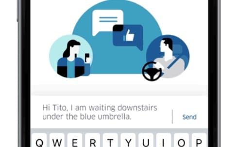Uber permet de discuter avec un chauffeur sans donner son numéro