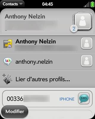 Ici, les informations de contact sont fusionnées depuis un Mac et un compte Google, sans modifier les informations de l'un ou de l'autre.