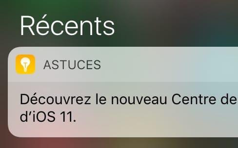Sous iOS 10, Apple donne des astuces pour iOS 11