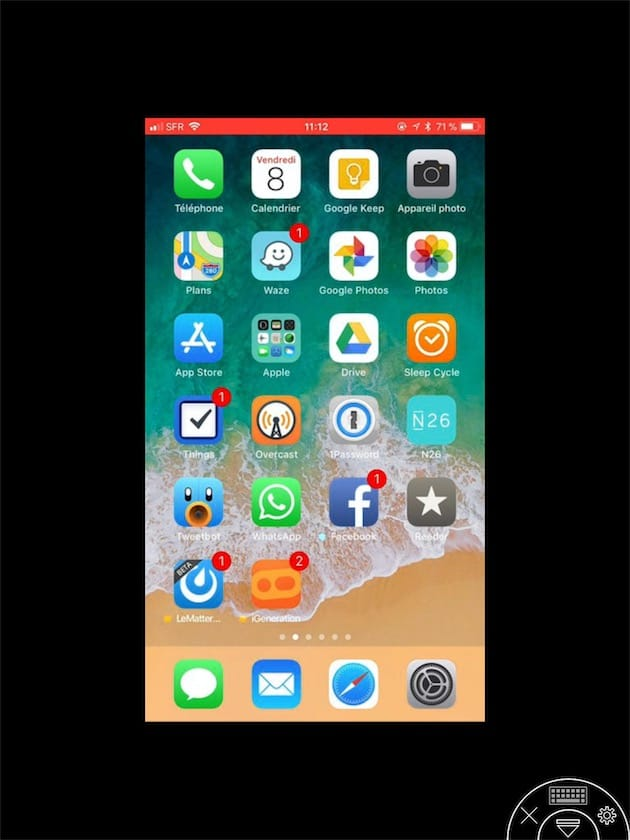 Ios 11 essai du partage d 39 cran d 39 iphone ipad avec for Photo ecran ios 11