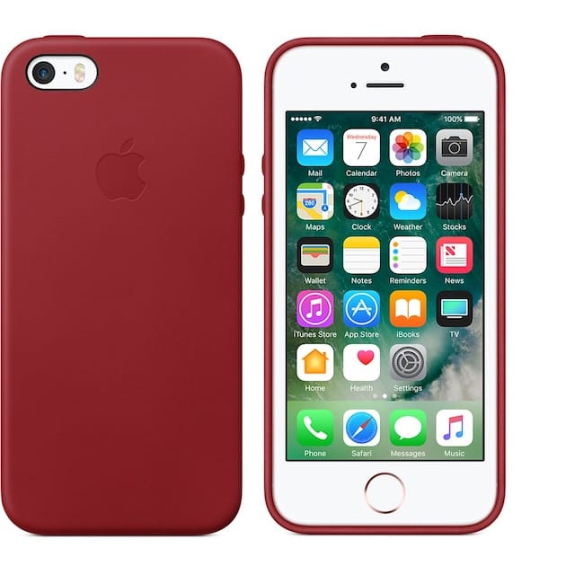 coque iphone 8 rouge cuir