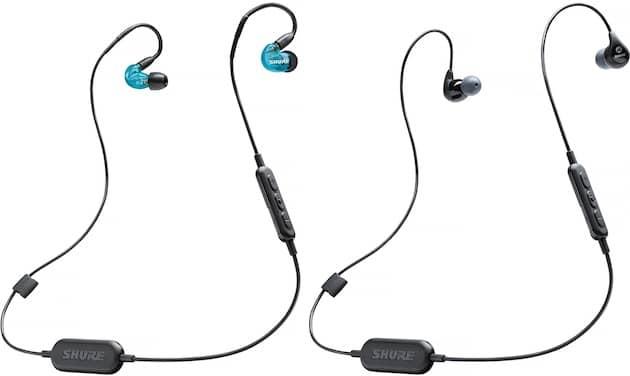 SE215 Wireless bleu à gauche, SE112 Wireless à droite. Cliquer pour agrandir