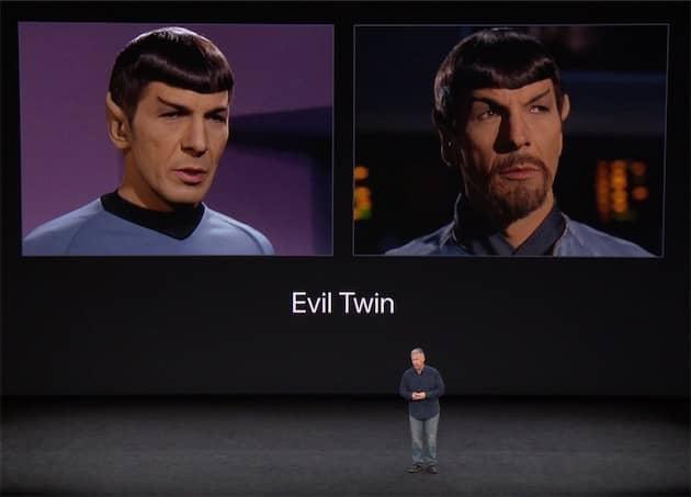 Pendant la présentation, Apple a souligné avec une touche d'humour que les jumeaux poseraient problème. C'est pourtant l'un des plus gros défauts de Face ID. Cliquer pour agrandir