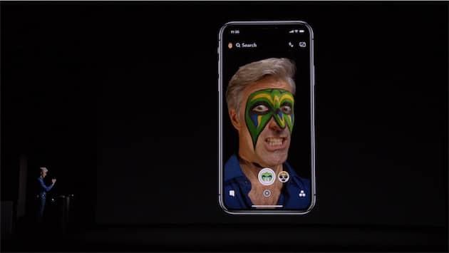 Snapchat exploitera les capteurs de l'iPhone X pour améliorer les filtres de visage, sans pour autant accéder directement aux données. Cliquer pour agrandir