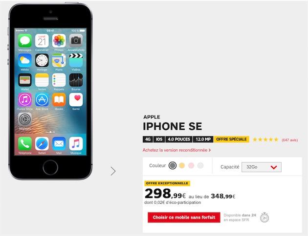 l 39 iphone se neuf en promotion 299 igeneration. Black Bedroom Furniture Sets. Home Design Ideas