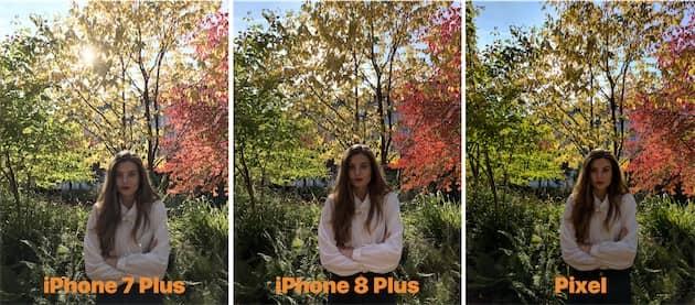 Autre photo en mode HDR où l'iPhone8Plus s'en sort bien mieux que son prédécesseur. Selon le site, l'appareil est au niveau du Pixel de Google. Cliquer pour agrandir