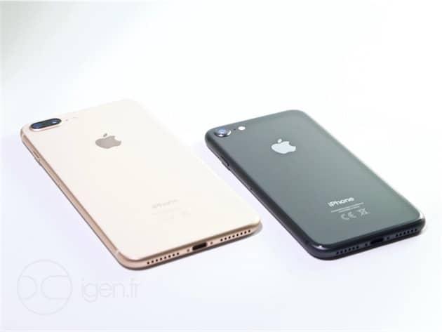 iPhone 8 Plus et iPhone 8. Cliquer pour agrandir