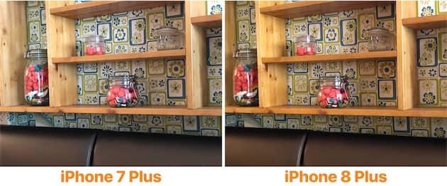 Autre exemple révélateur de la nouvelle colorimétrie de l'iPhone 8 Plus. Sur cet exemple, la photo prise avec le nouveau modèle est bien plus fidèle aux couleurs perçues par l'œil humain. Cliquer pour agrandir