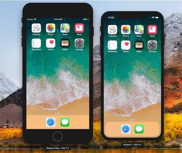 Puisque l'iPhone X n'est pas encore disponible, le simulateur fourni par Apple aux développeurs est le meilleur moyen d'estimer les différences en termes d'utilisation. Cliquer pour agrandir