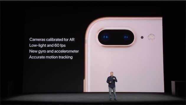 Pendant le keynote, Apple a insisté sur les avantages des iPhone 8Cliquer pour agrandir