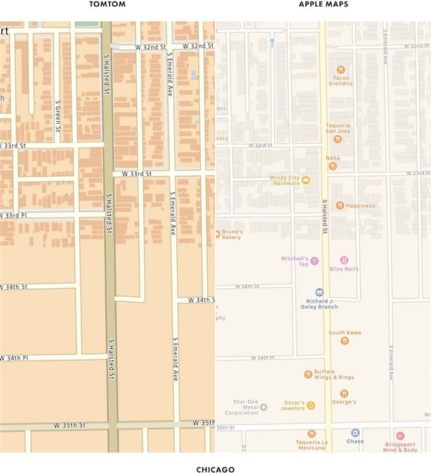 Dans De Nombreuses Villes Comme Ici A Chicago Les Batiments Affiches Sur Plans Droite Sarretent Brutalement Au Meme Endroit Que Cartes