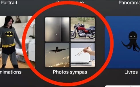 L'Apple TV affiche les dossiers d'albums de Photos