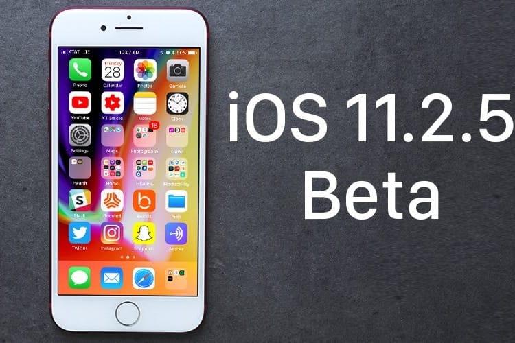 Vous prendrez bien une bêta de plus pour iOS11.2.5?