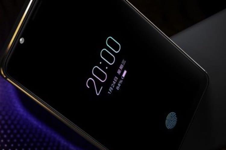 Vivo lance le premier smartphone équipé d'un capteur d'empreintes digitales dans l'écran