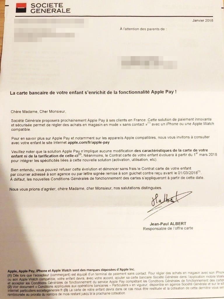 Bien-aimé Société Générale : l'activation d'Apple Pay a commencé [une  LZ75