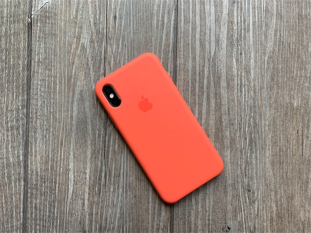 coque iphone xr bois rouge