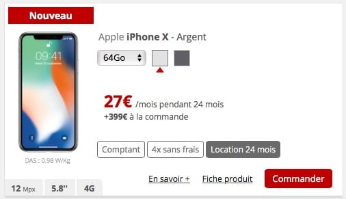 l 39 iphone x est en location chez free mobile igeneration. Black Bedroom Furniture Sets. Home Design Ideas