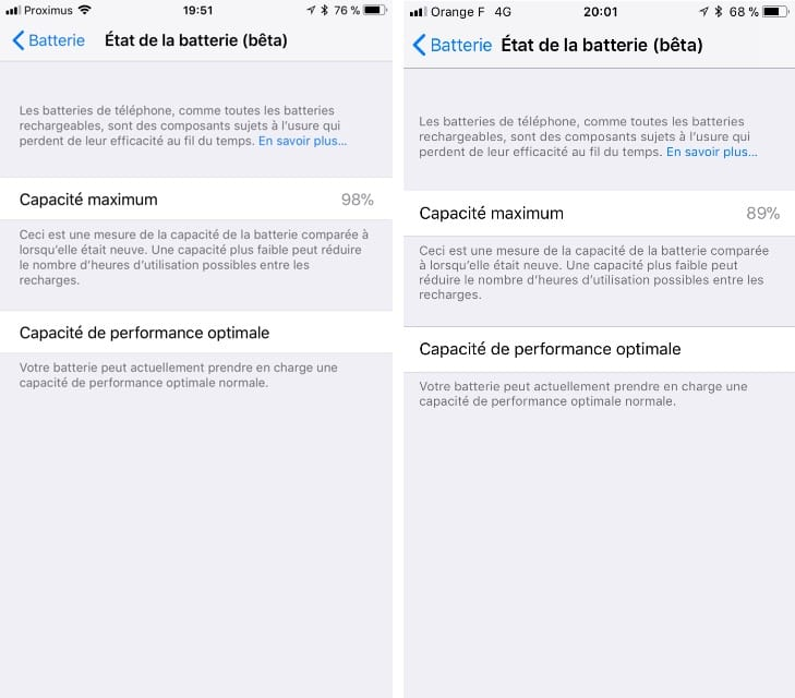 Ios 11 3 Affiche L état De La Batterie De L Iphone Igeneration