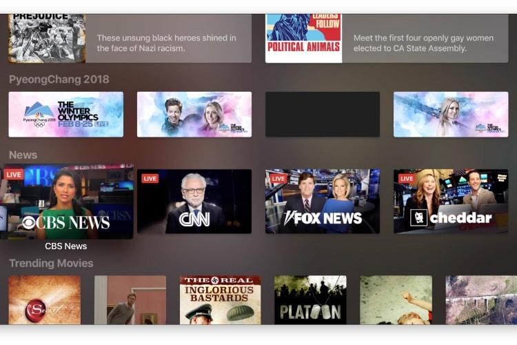 L'app TV s'enrichit d'une section News aux États-Unis
