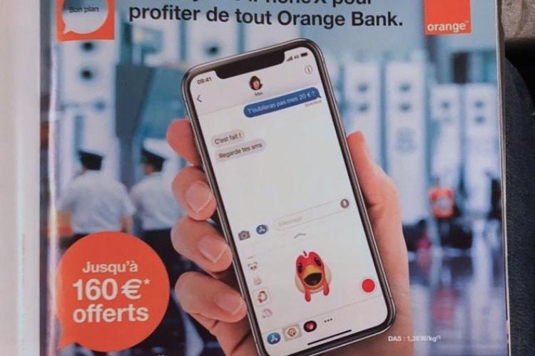 Orange Bank offre 160€ si vous achetez un iPhone X chez Orange