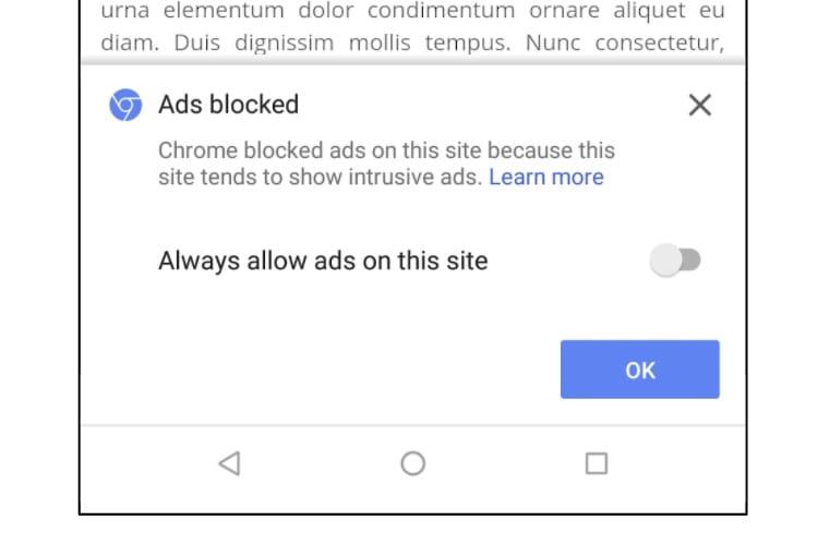 Chrome bloquera les pubs indésirables à partir de ce jeudi