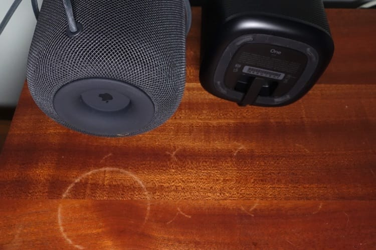 Le HomePod n'est pas la seule enceinte à marquer les meubles en bois