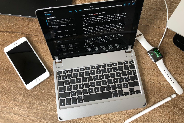 Test du clavier Brydge pour iPad