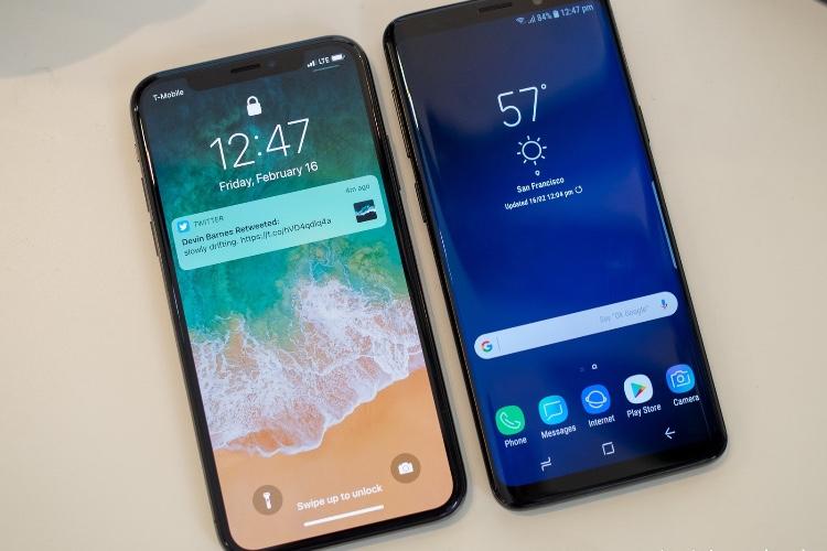 L'écran du Galaxy S9 est à la hauteur de celui de l'iPhoneX