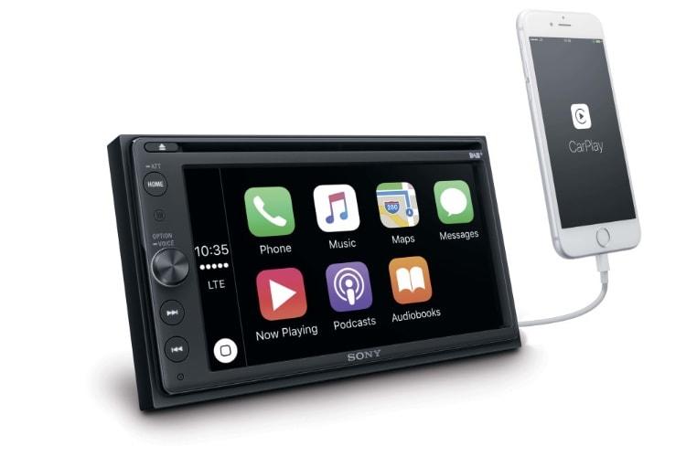 Un nouvel autoradio Sony compatible CarPlay et RNT en mai