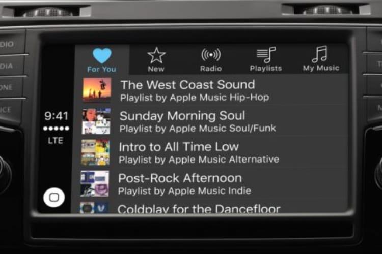 Fiat Chrysler et Volkswagen offrent trois mois d'Apple Music