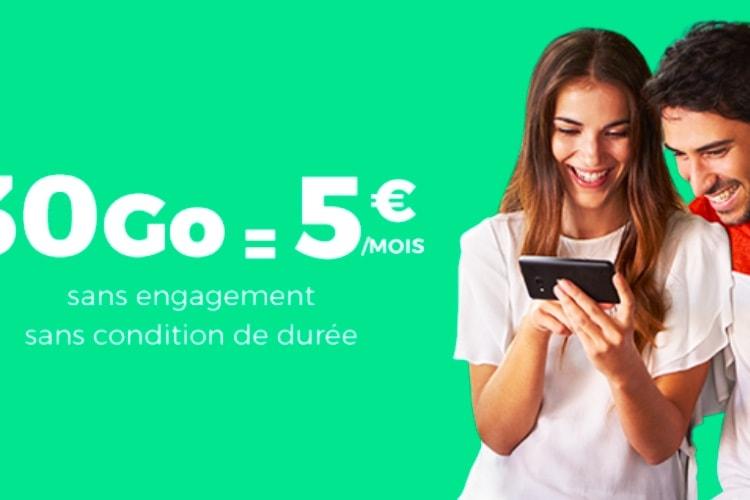 Le forfait SFR RED 30 Go à 5€/mois sans limite de durée
