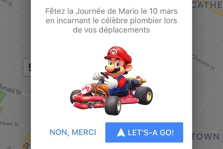 MAR10 Day : Google Maps vous fait voyager dans le kart de Mario