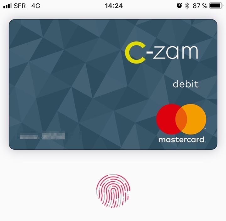 Apple Pay chez American Express et C-zam — Paiement mobile