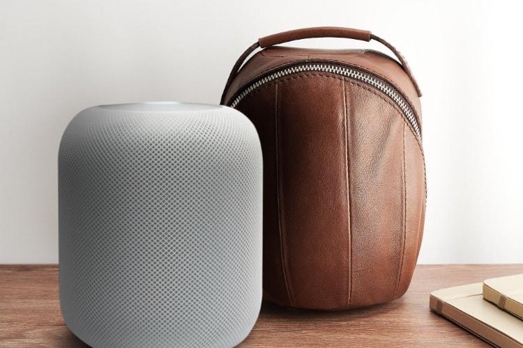 Transportez votre HomePod avec classe dans ce sac en cuir