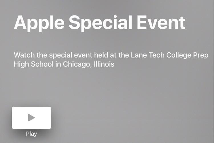 La vidéo de la conférence éducation est déjà en ligne sur l'Apple TV et en ligne
