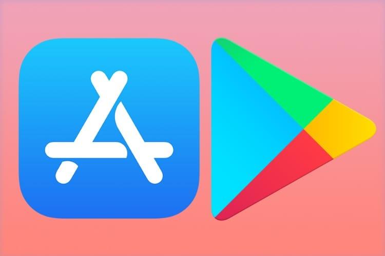 L'App Store moins fourni, le Play Store toujours plus garni
