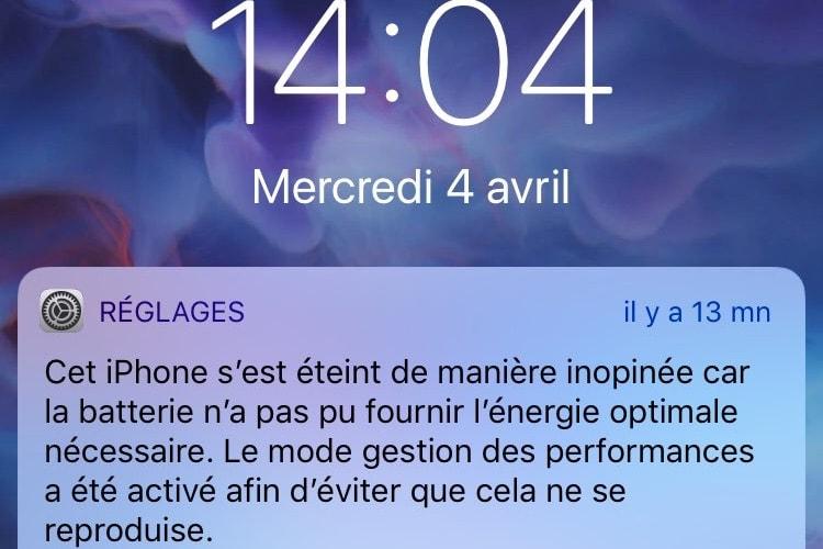 Comme prévu, iOS 11.3 entraîne une extinction inopinée sur des iPhone