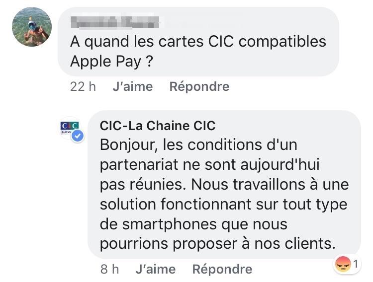 Le Cic N Est Toujours Pas Dispose A Prendre Apple Pay Igeneration