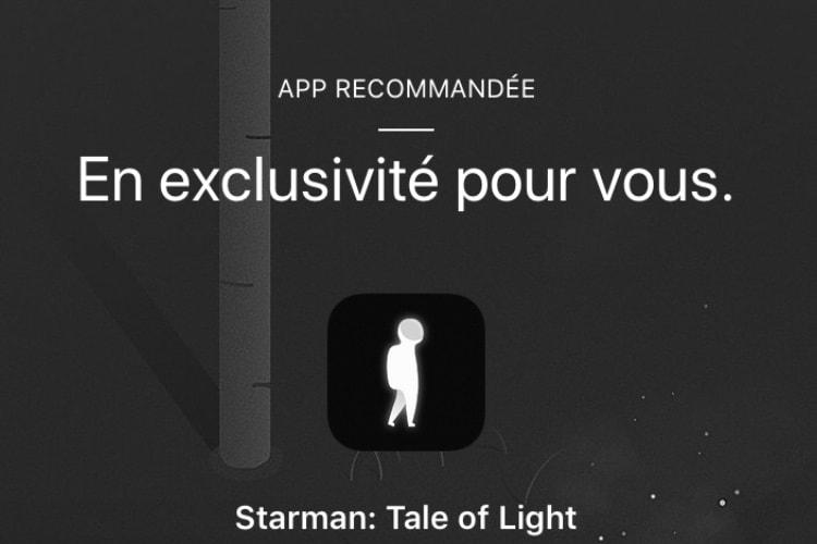 Le jeu Starman offert dans l'app Apple Store en ce moment
