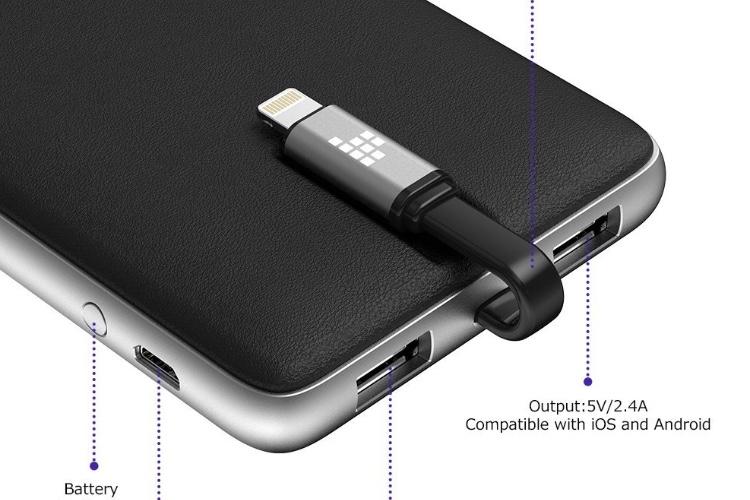 Promos: une batterie 10000mAh avec prise Lightning intégrée à 25,5€ et un chargeur Qi pliable à 19€