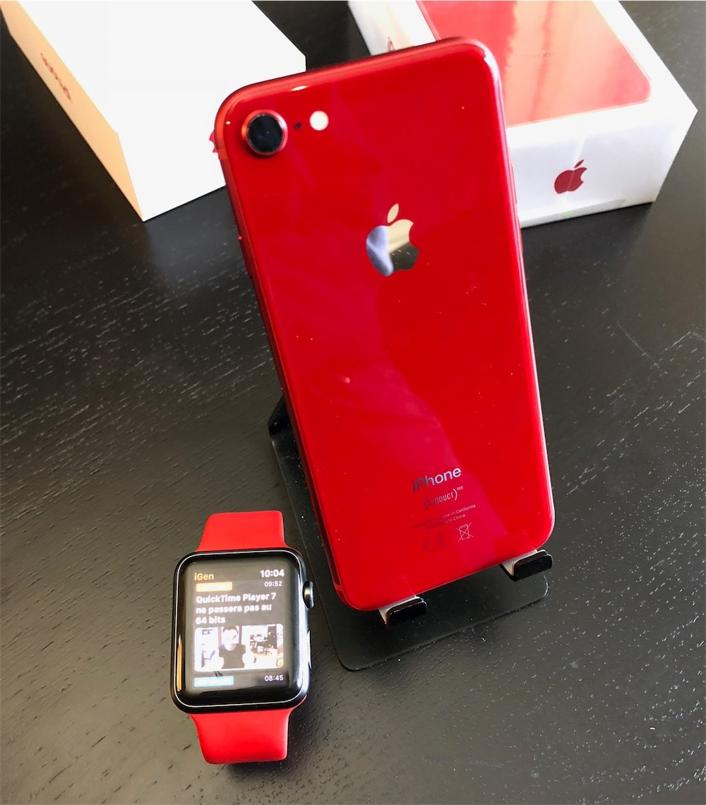 coque iphone 8 rouge matte