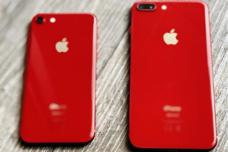 Aperçu des iPhone 8 PRODUCT(RED) : en rouge et noir 🎤!