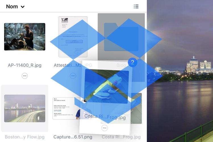 Dropbox gère enfin le glisser/déposer de l'iPad