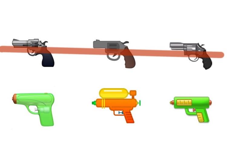 Emoji 🔫: le pistolet à eau d'Apple fait des émules [MàJ]