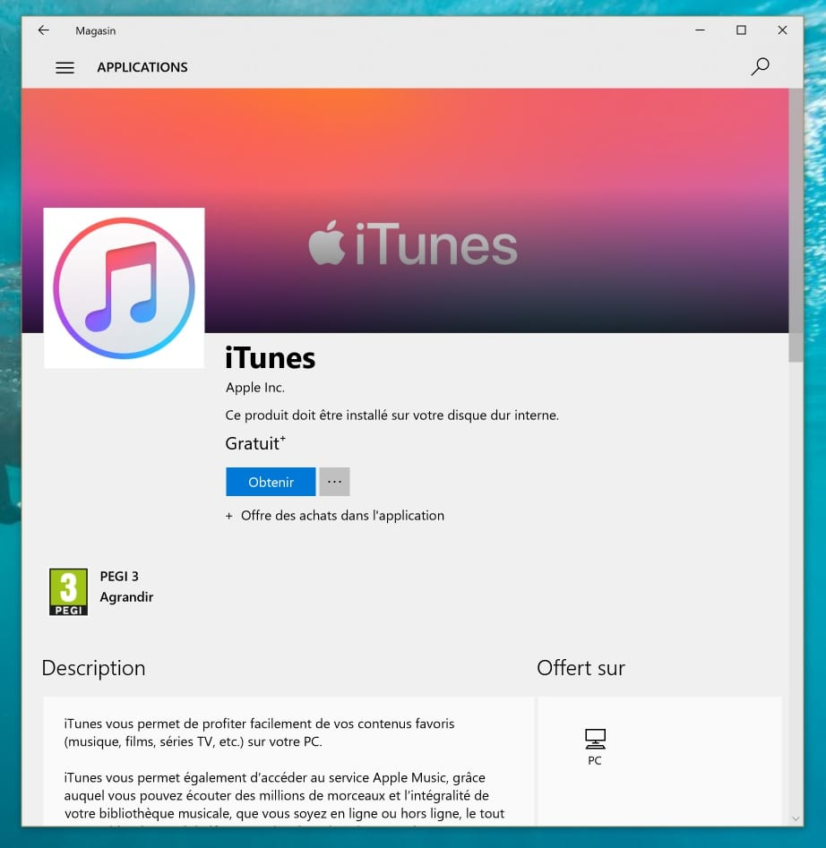 telecharger itunes pour windows 7 dernière version