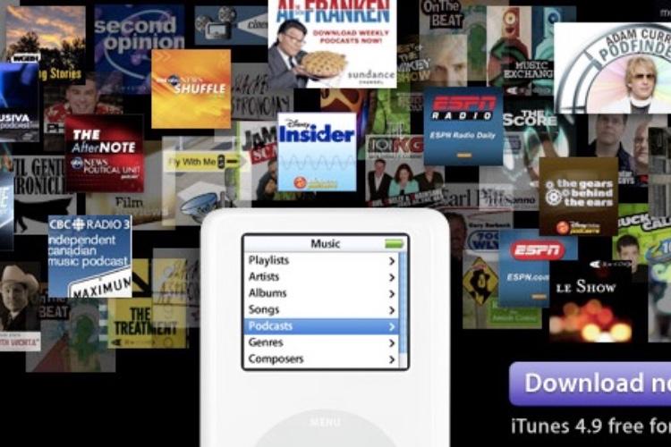 iTunes a distribué 50milliards de podcasts depuis2005