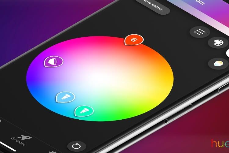 L'application Hue simplifie l'utilisation des produits lumineux de Philips