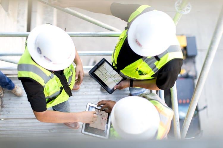 L'iPad permet d'économiser sur les chantiers de construction